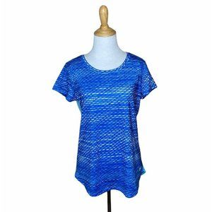 Under Amour Two Tone Blue Active Workout T Shirt M